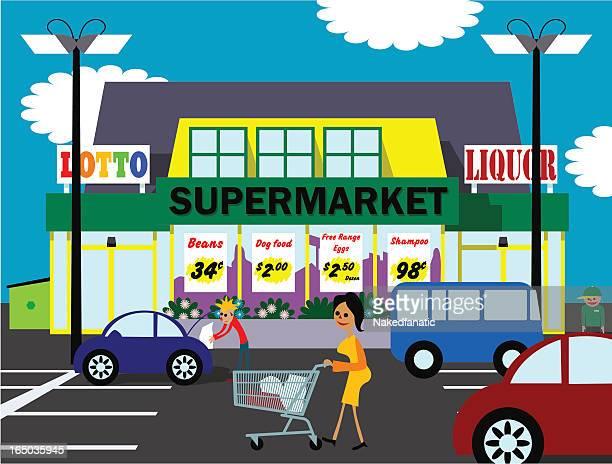 A illustration of a supermarket