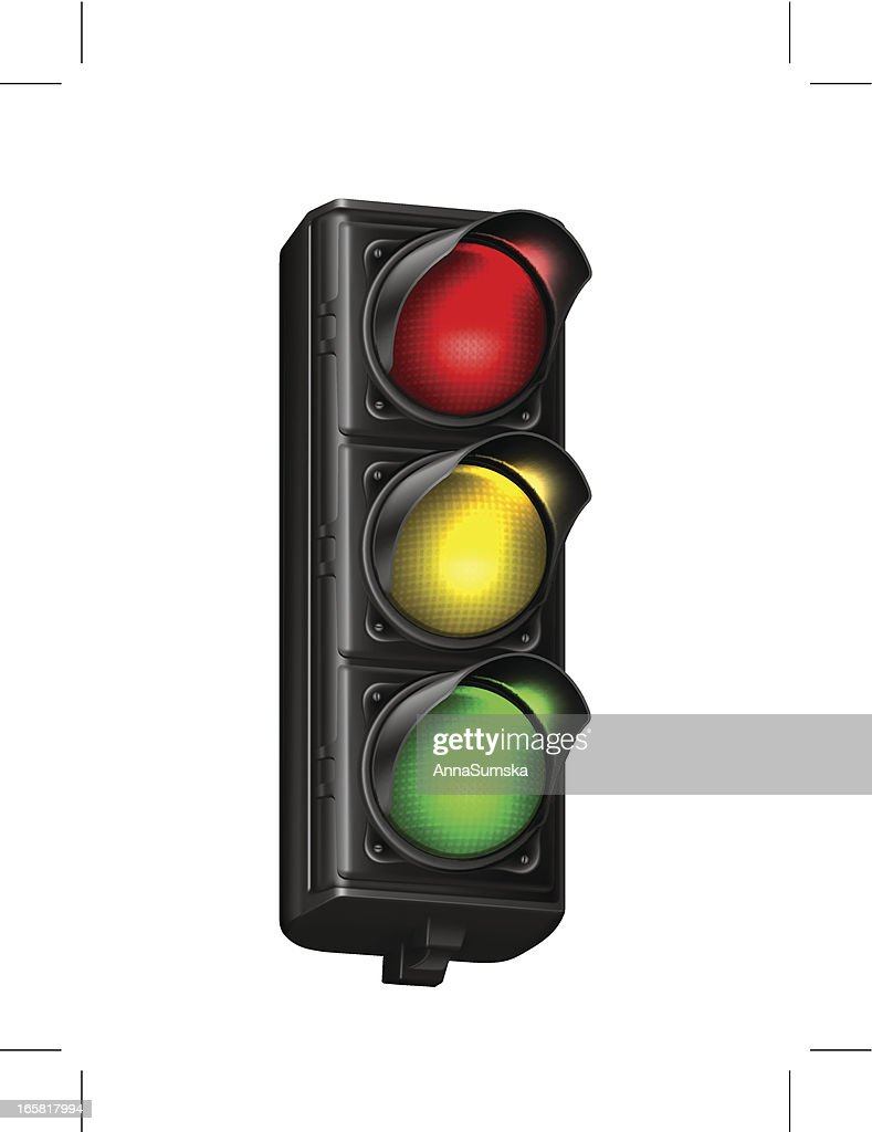 Illustration of a traffic light