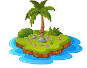 Illustration of a tropical island
