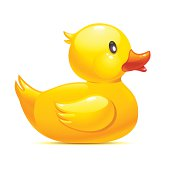 Illustration of a yellow rubber duck