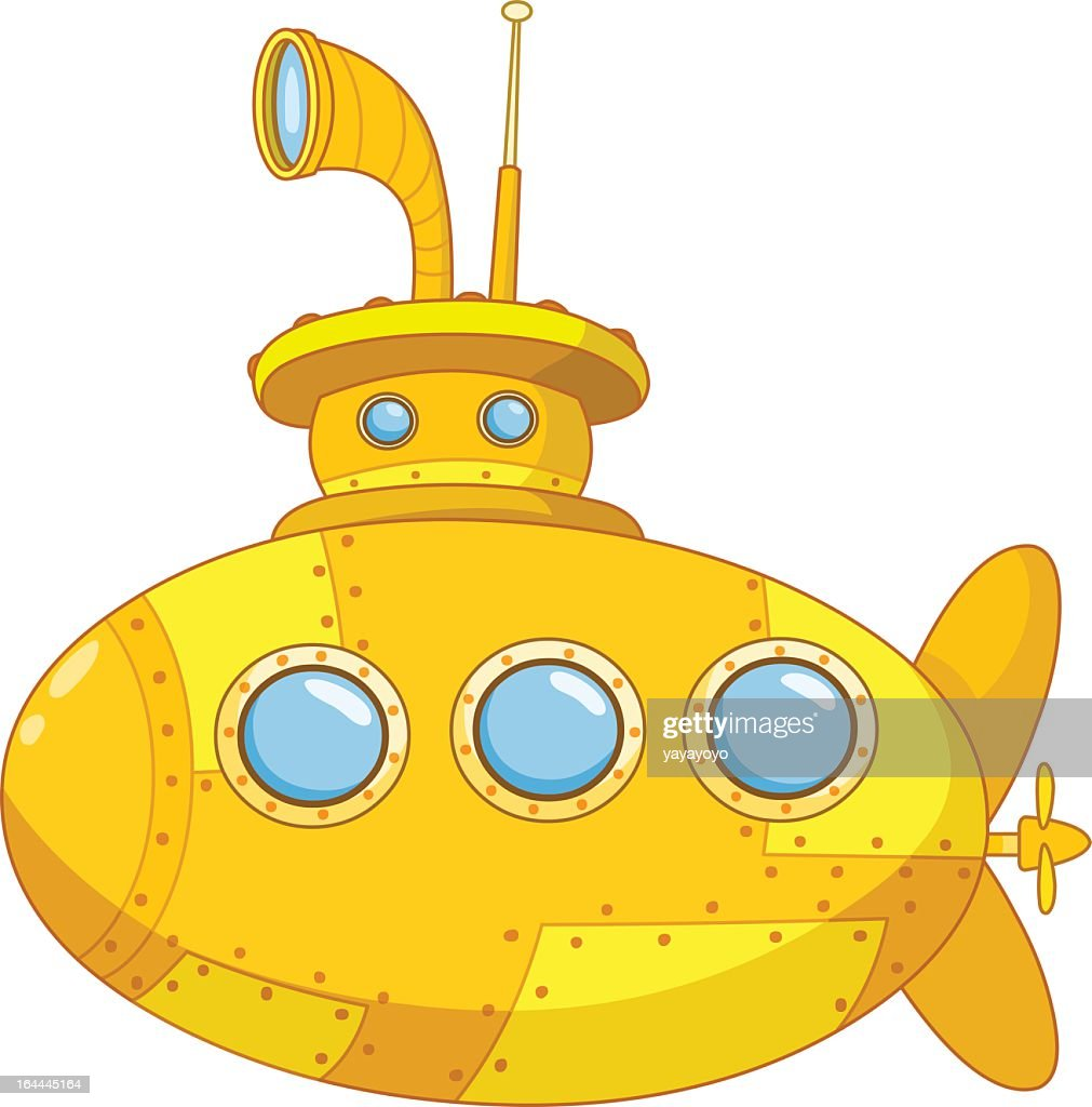 A illustration of a yellow submarine
