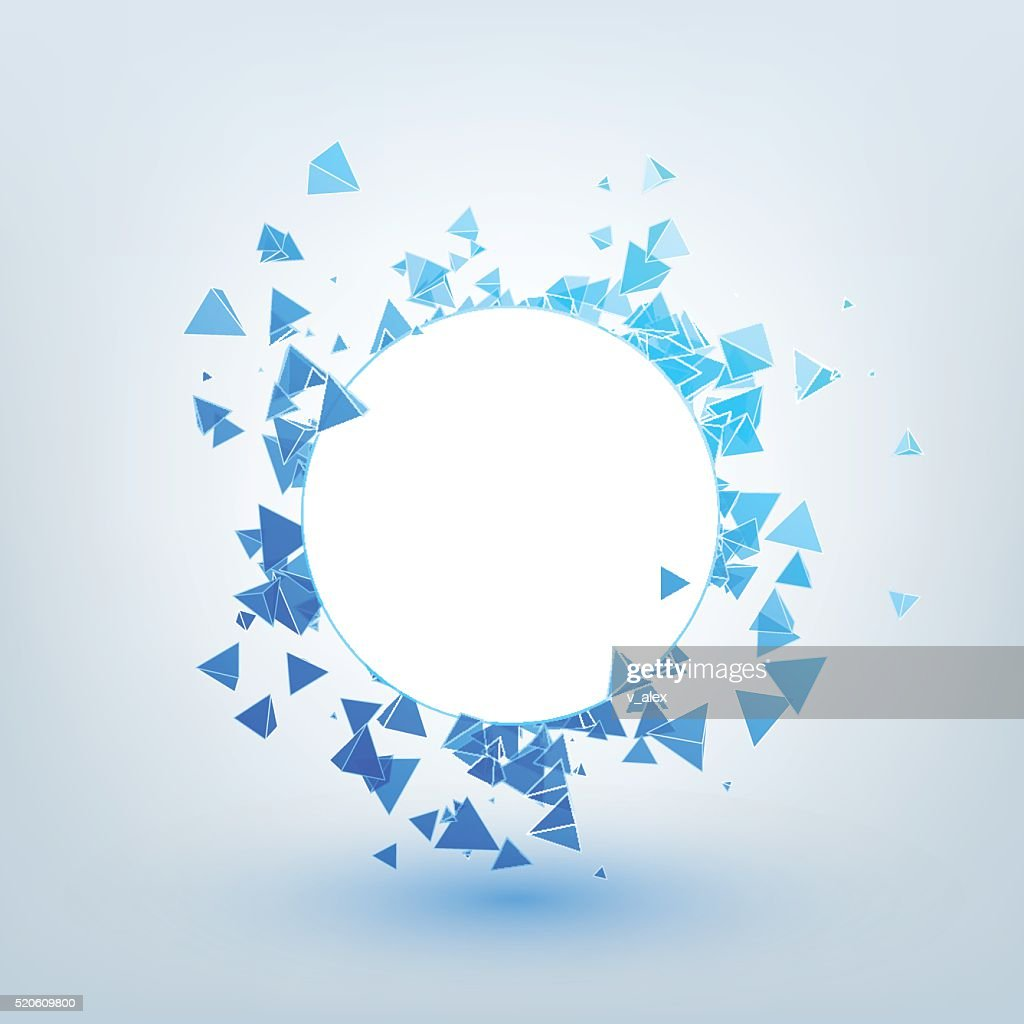 Illustration of abstract background with triangles.
