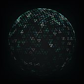 Illustration of Abstract Low Poly Sphere