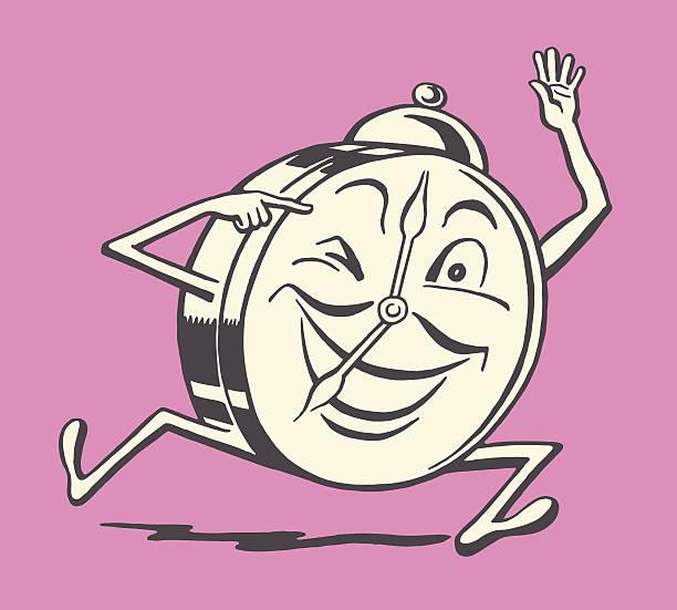 illustrations, cliparts, dessins animés et icônes de running radio-réveil avec connexion mp3 - faire un clin d'oeil