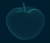 illustration of an isolated apple