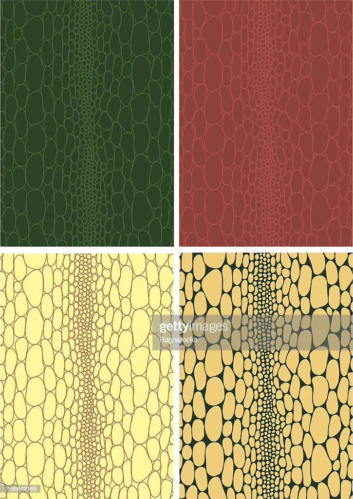 illustration of animal skin textures, background patterns