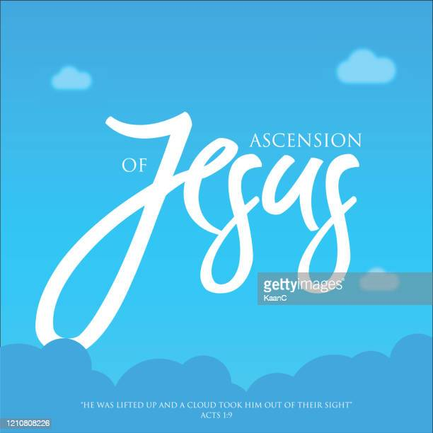 illustrations, cliparts, dessins animés et icônes de illustration de l'illustration de stock de fond de jour d'ascension de jésus - ascension of jesus christ