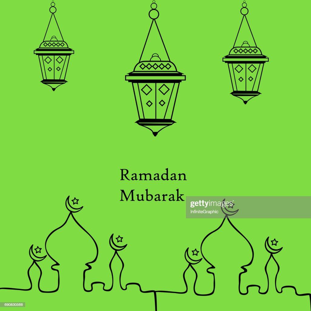 Illustration of background for Eid