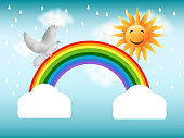 Illustration of background for monsoon season