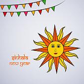 Illustration of background for Sri Lanka New Year