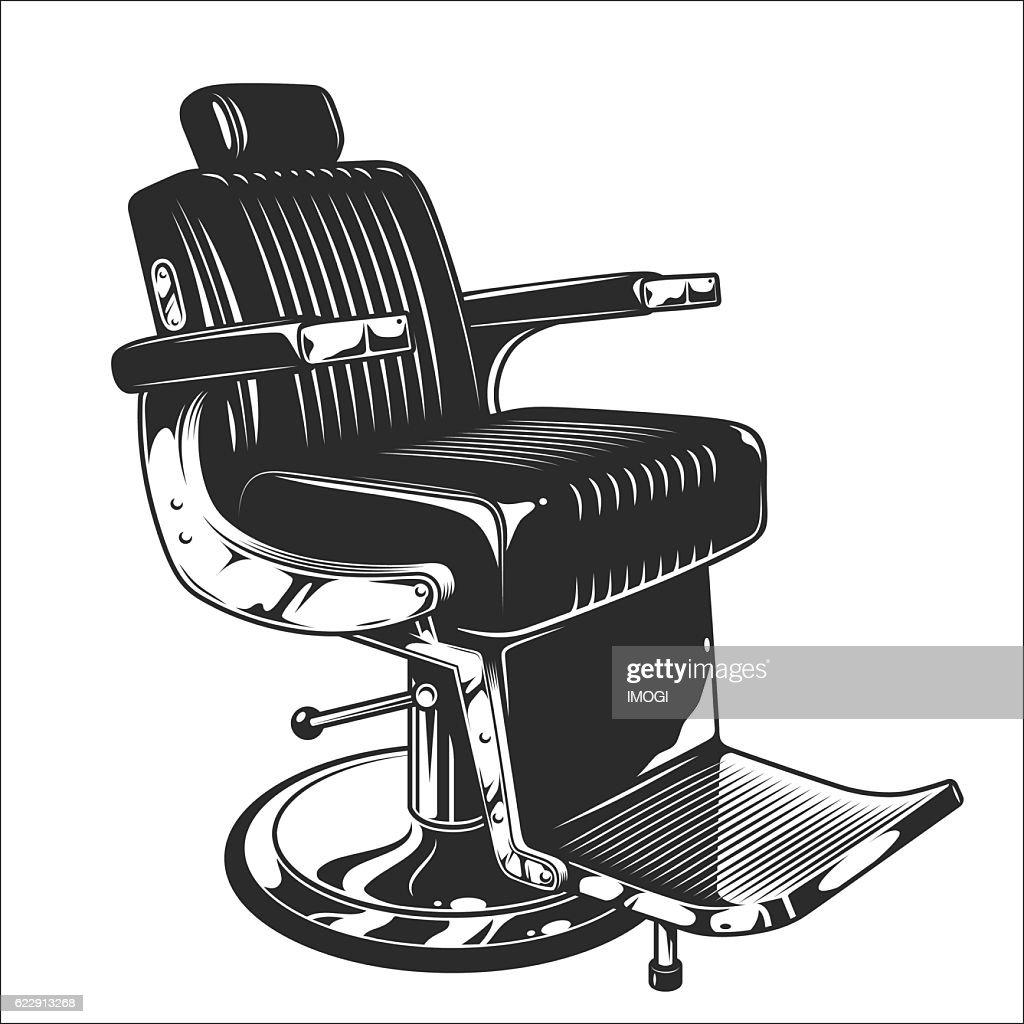 Illustration of barbershop chair