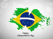 illustration of Brazil Independence Day Background