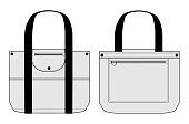 Illustration of briefcase (Tote bag) / white,light gray