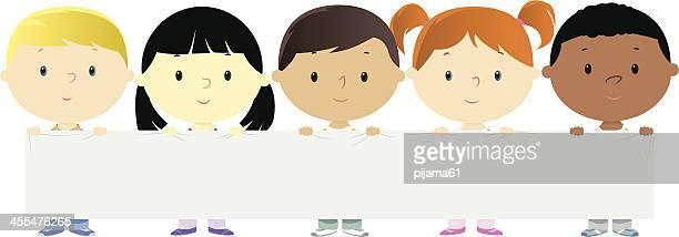 ilustraciones, imágenes clip art, dibujos animados e iconos de stock de los niños - diversidad cultural