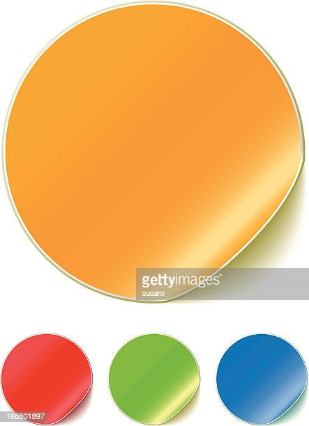 Illustration Of Colored Peeling Stickers