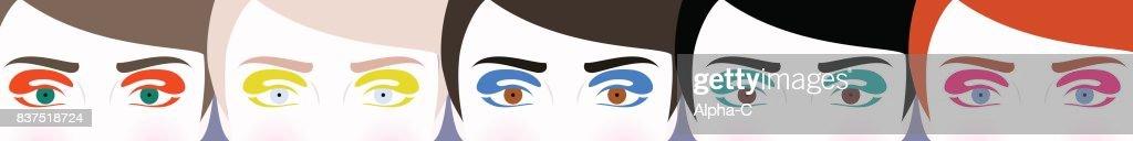 Illustration of colorful eyes