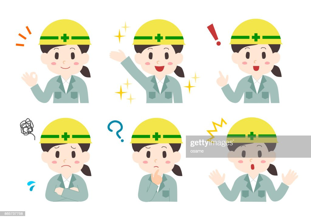Illustration of construction worker(woman)