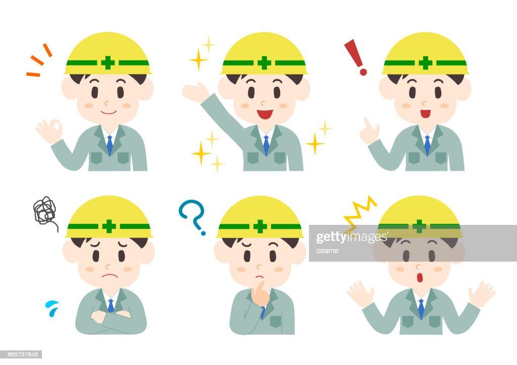 Illustration of construction worker(man)