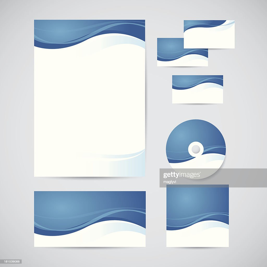 Illustration of corporate identity printouts