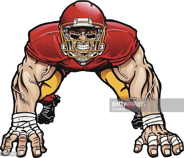 Ilustração de Linha defensivo em equipamento de futebol