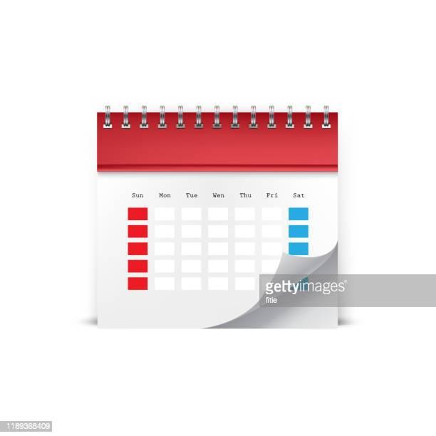 abbildung des detaillierten kalendersymbols - jährliches ereignis stock-grafiken, -clipart, -cartoons und -symbole