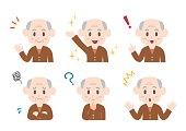 Illustration of elderly man