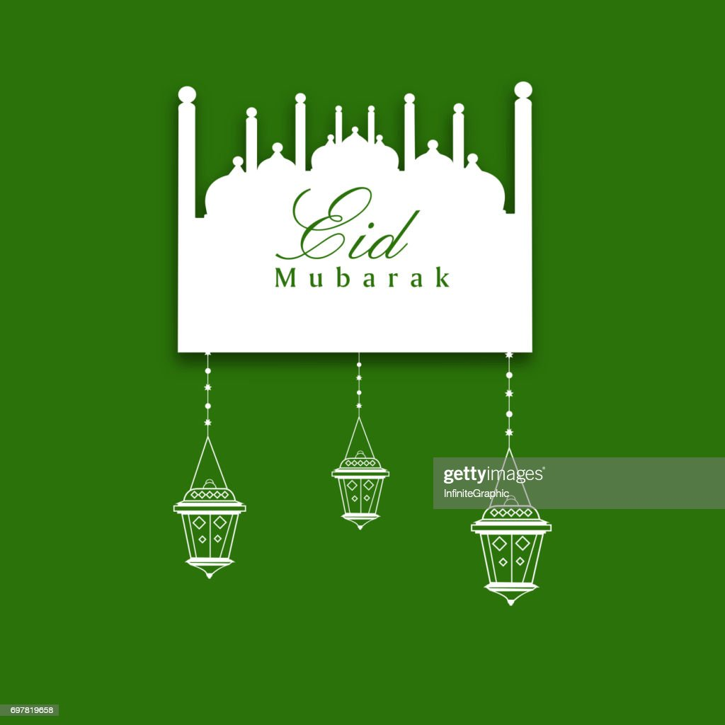 Illustration of elements for the occasion of Eid Background
