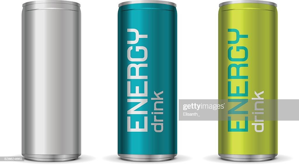 Illustration of energy drink cans