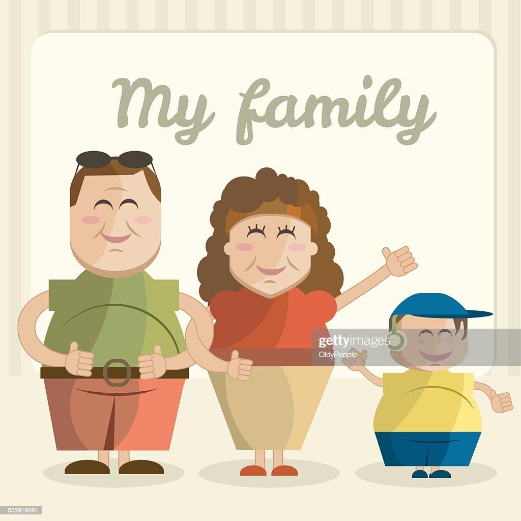 Illustration of family : Vector Art