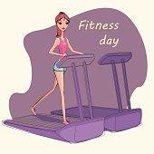 Illustration of fitness girl