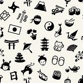 Illustration of graphical flat design Japanese pattern