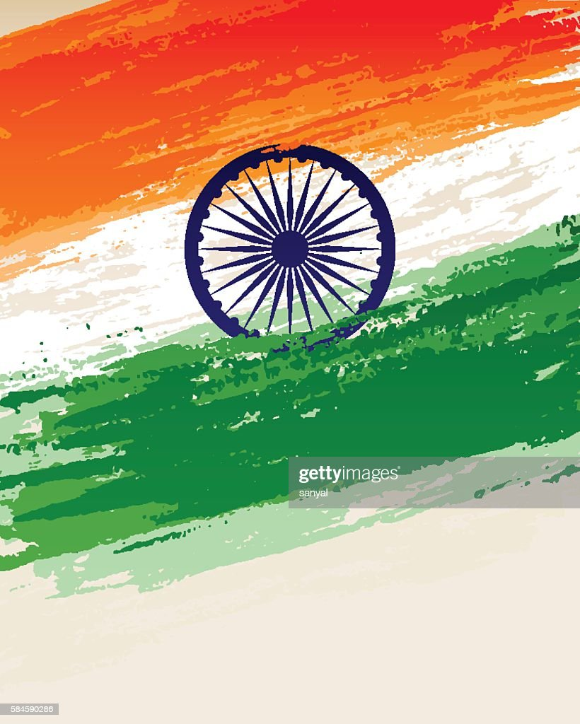 illustration of grungy Indian Flag