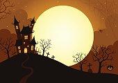 Illustration of Halloween night