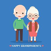 illustration of happy grandparents