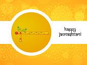 illustration of Hindu Festival Janmashtami Background