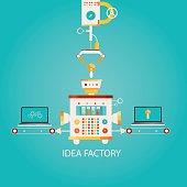 illustration of idea factory.