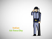 illustration of Indian Airforce Day Background