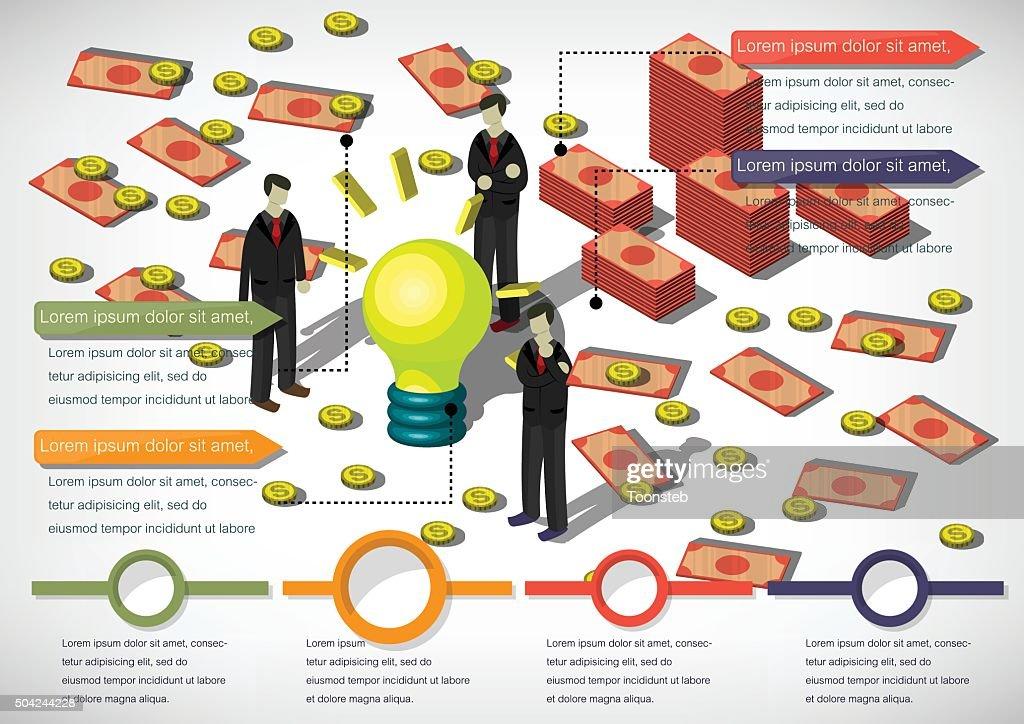 illustration of info graphic money equipment concept