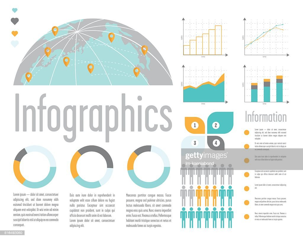 illustration of infographic elements
