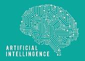 Illustration of intelligence artificia brain.