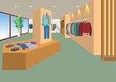 Illustration of interior / Men's clothing store
