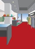Illustration of interior / Women's clothing store