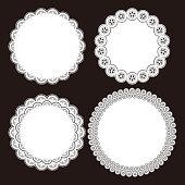 Illustration of lace patterns.