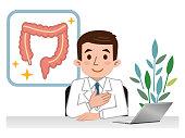 Illustration of large intestine