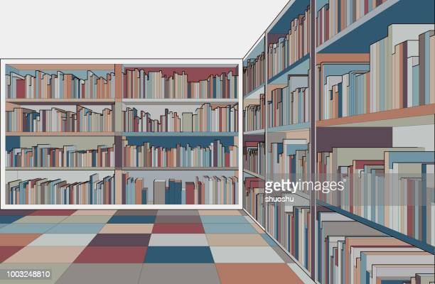 illustration of library - library stock illustrations