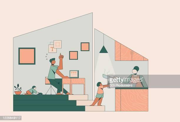 covid-19の人生のイラスト - 在宅勤務点のイラスト素材/クリップアート素材/マンガ素材/アイコン素材