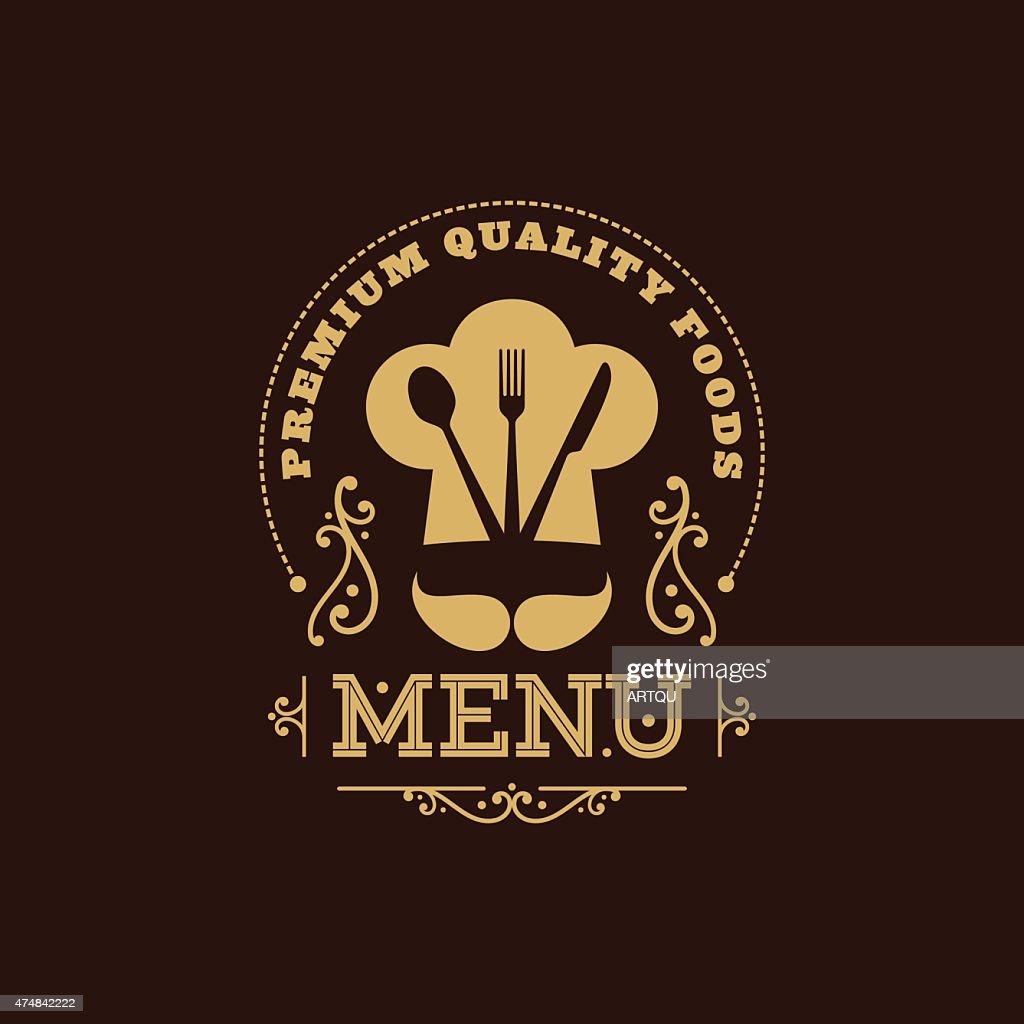 illustration of menu card design