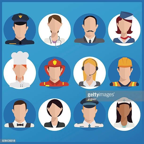 Illustration of multiple professions