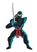 Illustration of ninja