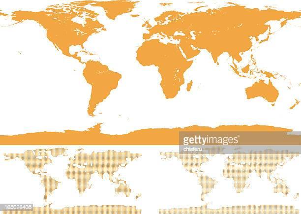 Detaillierte Weltkarte